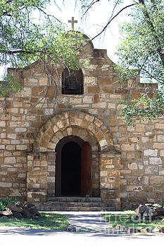 Front of Old Chapel Fort Stanton New Mexico by Colleen Cornelius