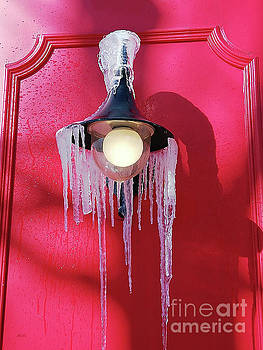 Frost, Street Lamp, Icicles. by Galina Lavrova