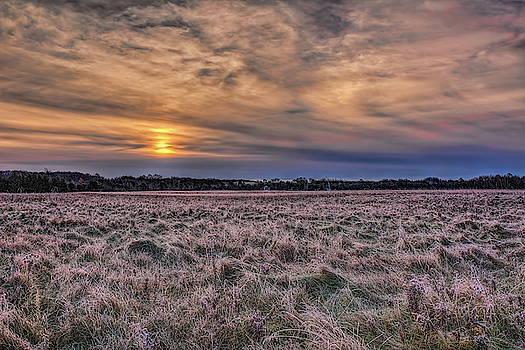Dale Kauzlaric - Frosty Hay Field
