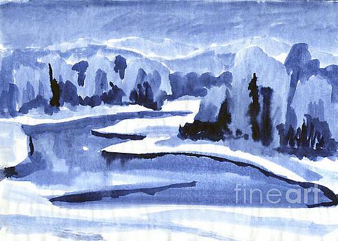 Frosty river landscape by Irina Dobrotsvet