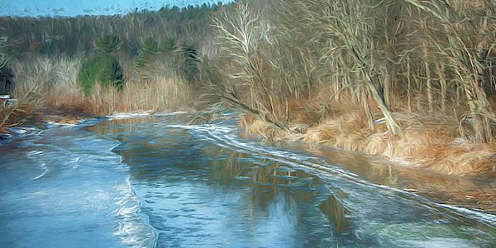 Frozen Creek in PA by Alan Goldberg