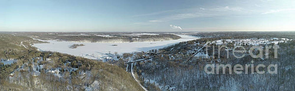 Frozen Snow Covered St. Croix River Valley Stillwater by Pictures Over Stillwater