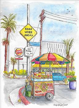 Fruit cart in Sunset Blvd. and Kenmore Ave., in Hollywood, California by Carlos G Groppa