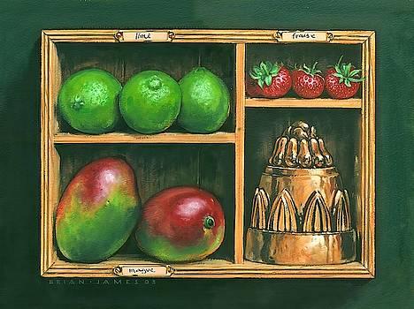 Fruit shelf Wall Art by Brian James