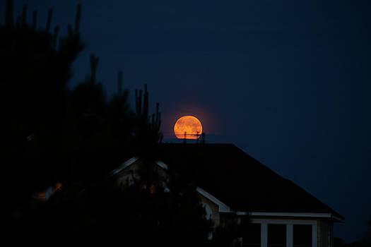 Full Moon Rising 5 by David Stasiak