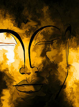 Funky Buddha by Abstract Angel Artist Stephen K