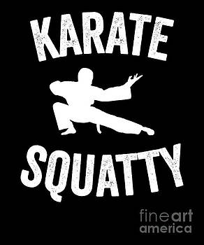 Funny Karate Design Karate Squatty White Light by J P