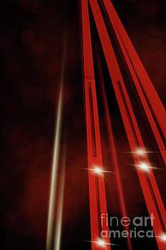 Benjamin Harte - Futuristic Red Abstract Buildings