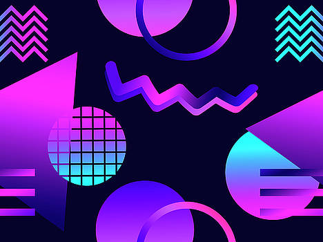 Futuristic Seamless Pattern With by Andrii Vinnikov