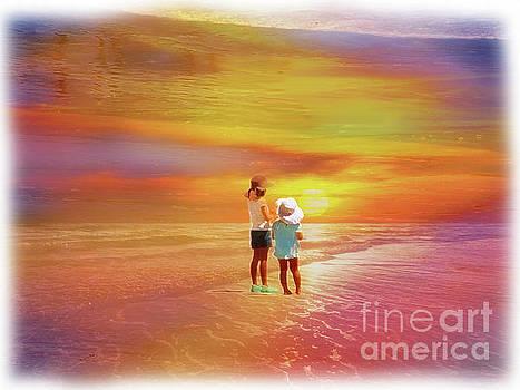 Galapagos Beach Kids III by Al Bourassa