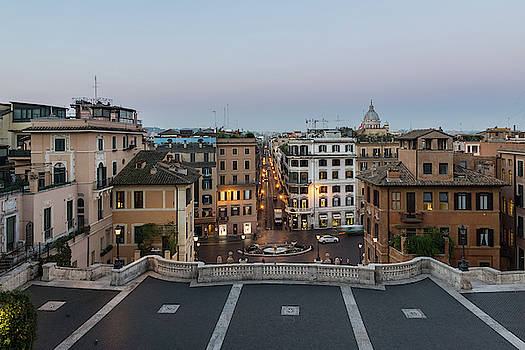 Gallivanting Around in Rome Italy - Soft Dawn Over the Spanish Steps by Georgia Mizuleva