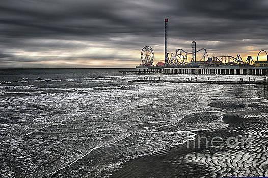 Galveston Winter Sunset by Norman Gabitzsch