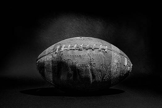 Game Ball - Black and White by Peter Tellone