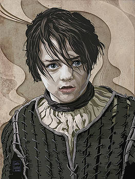 GAME OF THRONES Arya Stark by Garth Glazier