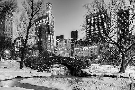 Gapstow Bridge and Snow by Randy Lemoine