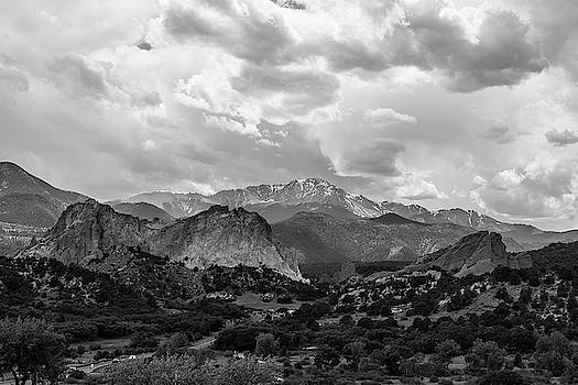 Garden of the Gods Black and White by Michael Hills
