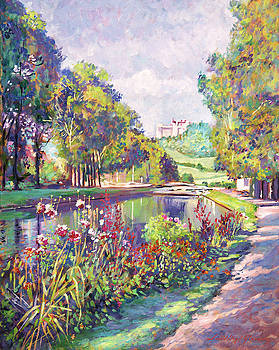 Garden On The Canal by David Lloyd Glover