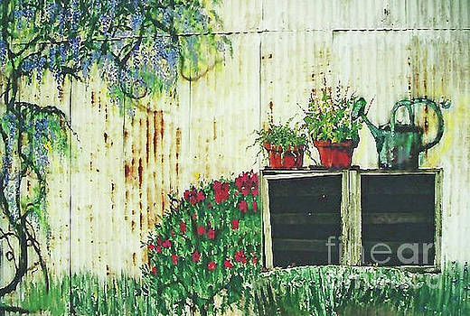 Garden Shed Mural 300 by Sharon Williams Eng