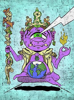 Gautama Buddha Colour Illustration by Sotuland Art