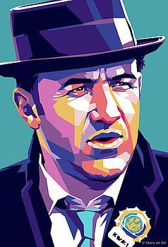 Gene Hackman by Stars-on- Art