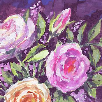 Gentle Pink Floral Impressionism  by Irina Sztukowski