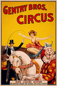Gentry Bros Circus - Vintage Advertising Poster by Siva Ganesh