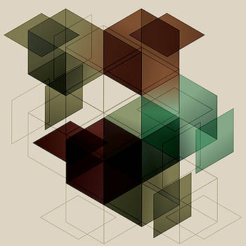 Geometric Cube Background. Eps10 With by Transfuchsian