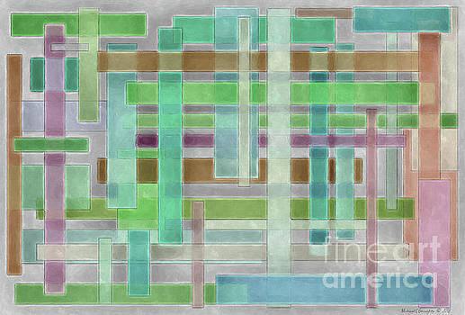 Geometric Neutral Pastels No2 - AMCG20181227 by Michael Geraghty