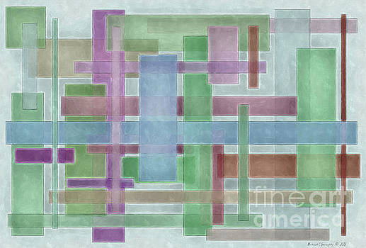 Geometric Neutral Pastels No3 - AMCG20181227 by Michael Geraghty