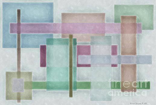 Geometric Neutral Pastels No4 - AMCG20181227 by Michael Geraghty
