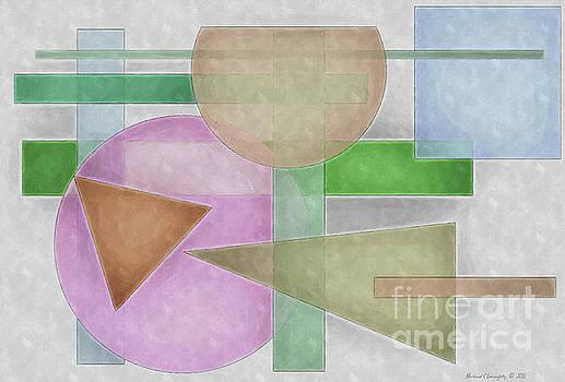 Geometric Neutral Pastels No5 - AMCG20181228 by Michael Geraghty