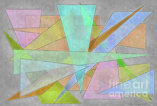 Geometric Neutral Pastels No6 - AMCG20190107 by Michael Geraghty
