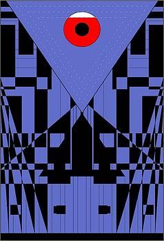 Geometric Red Dot  by Arttantra