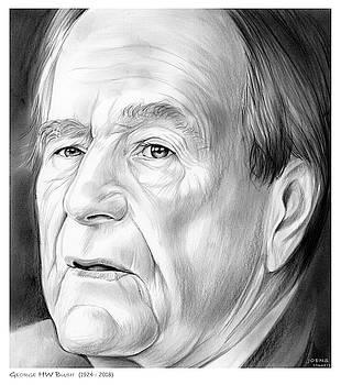 George HW Bush 1924 - 2018 by Greg Joens