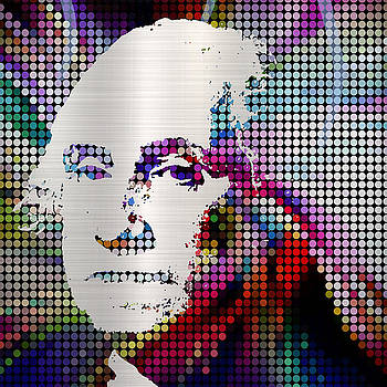 George Washington MODERN ICON PRESIDENT by Robert R Splashy Art Abstract Paintings