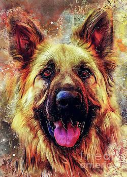Justyna Jaszke JBJart - German Shepherd dog
