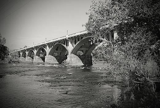 Gervais Street Bridge 2014 B W 1 by Joseph C Hinson