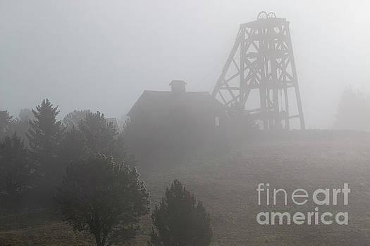 Ghostly Foggy Mine Country by Steve Krull