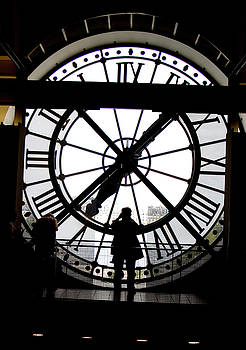 Giant Clock in Paris by Clifflyn Bromling