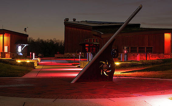 Giant Sundial at Night by Diane Schuler