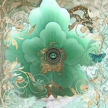 Tina Lavoie - Gilded Sakura Cherry Blossom Floral Fantasy Jewelry Art