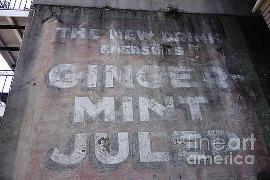 Susan Carella - Ginger Mint Julep Sign  -  New Orleans Louisiana