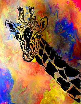 Giraffe Pizazz by Abstract Angel Artist Stephen K
