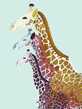 Giraffes Mint by Goed Blauw