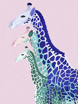 Giraffes Pink by Goed Blauw