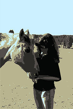 Girl and her Horse by Cathy Harper