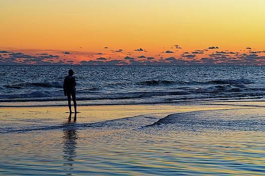 Girl on a Sandbar by Chris Buff