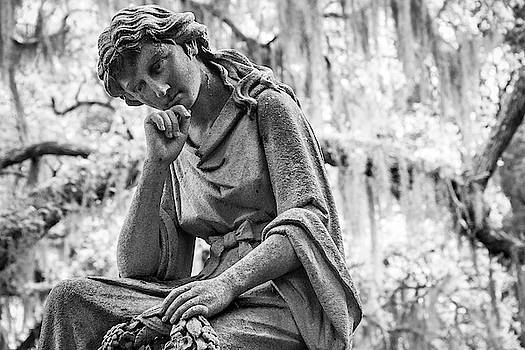 Girl With Wreath Statue by Steven Bateson