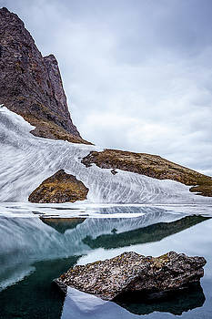 Glacial Lake in Spring by Tim Newton