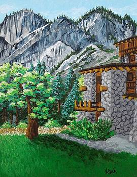 Glacier Point from Ahwahnee now Majestic Hotel, Yosemite, CA by Katherine Young-Beck
